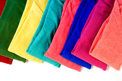 Colorful clothes on white background. Royalty Free Stock Image
