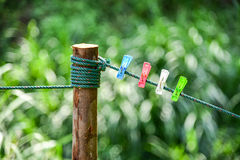 Colorful of Clothespin Royalty Free Stock Images