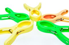 Colorful clothespin Royalty Free Stock Photos