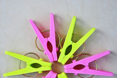 Colorful clothespin. Royalty Free Stock Photo