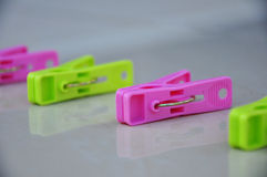 Colorful clothespin. Stock Images