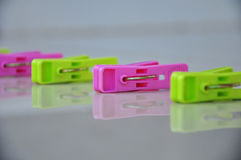 Colorful clothespin. Royalty Free Stock Image