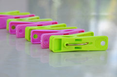 Colorful clothespin. Royalty Free Stock Photography