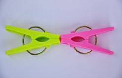 Colorful clothespin. Stock Photography