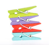 Colorful clothespin Royalty Free Stock Photo
