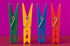 Colorful clothespins Royalty Free Stock Photos