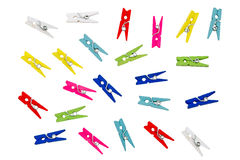 Colorful clothespins. Royalty Free Stock Photography