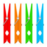 Colorful clothespins Royalty Free Stock Photography
