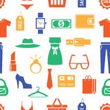 Colorful Clothing and Accessories Themed Graphics Royalty Free Stock Image