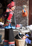 Colorful Clothing of the Hani Stock Photo
