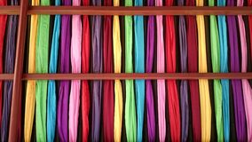 Colorful cloths ceiling artistic design Stock Photo