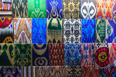 Colorful cloths. Market in Tashkent. Royalty Free Stock Photo