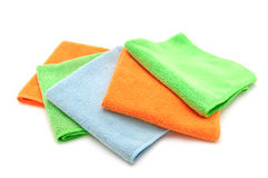 Colorful cloths microfiber Royalty Free Stock Image