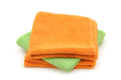 Colorful cloths microfiber Stock Images