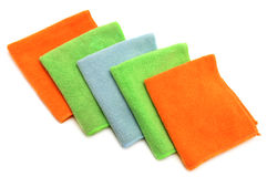 Colorful cloths microfiber. Isolated on a white background Stock Photography