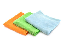 Colorful cloths microfiber Stock Image