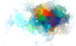 Colorful cloud brush strokes background. Vector version Royalty Free Stock Photo