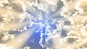 Colorful Cloud cross Royalty Free Stock Image