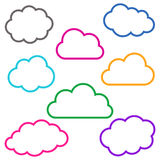 Colorful cloud outlines collection Stock Images