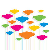 Colorful cloud pattern design background Royalty Free Stock Photos