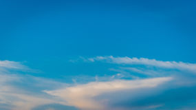 Colorful clouds against clear sky Royalty Free Stock Photography