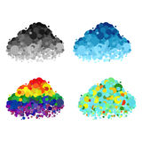 Colorful clouds and black clouds Stock Image