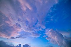 Colorful Clouds at Dawn Stock Image