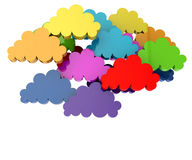 Colorful clouds Stock Photography