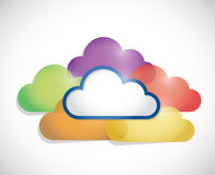 Colorful clouds illustration design Royalty Free Stock Image