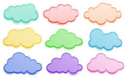 Colorful clouds Stock Photos