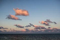 Colorful Clouds Over Caribbean Sea Royalty Free Stock Photography