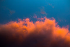 Colorful clouds over East Frisia Royalty Free Stock Images