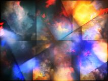 Colorful abstract clouds. Colorful clouds with overlapping rectangular layers Stock Image