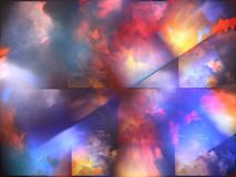 Colorful abstract clouds. Colorful clouds with overlapping rectangular layers Royalty Free Stock Photography