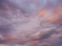 Colorful clouds. In pastel colors stock photo
