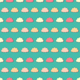 Colorful clouds, seamless pattern Stock Images