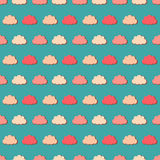 Colorful clouds, seamless pattern Royalty Free Stock Image