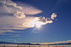 Iridescent Cloud over the Elkhorn Mountains  Stock Photography
