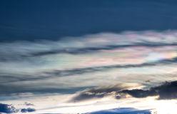 Colorful clouds at sunset Stock Photography