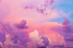 Colorful clouds Stock Image
