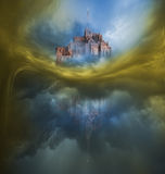 Colorful Clouds Variation with Mont Saint Michel Stock Image