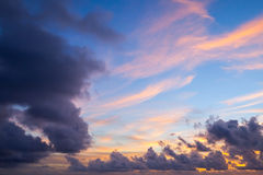Colorful cloudy background photo Stock Photo