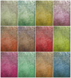 Colorful cloudy grunge wall set Royalty Free Stock Image