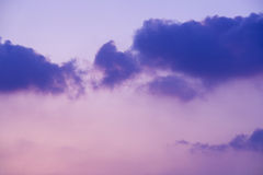 Colorful cloudy sky Stock Image