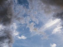 Colorful clound sky. Befor rain coming, sky background Stock Photography