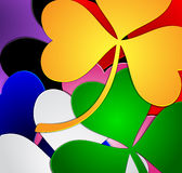 Colorful clover background Royalty Free Stock Photos