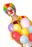 Colorful clown with balloons Royalty Free Stock Photography