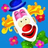 Colorful clown face Stock Photos