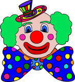 Colorful clown illustration Stock Photos