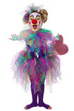 Colorful clown leans forward Royalty Free Stock Image